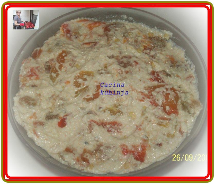 Predjelo sa sirom i pečenim paprikama