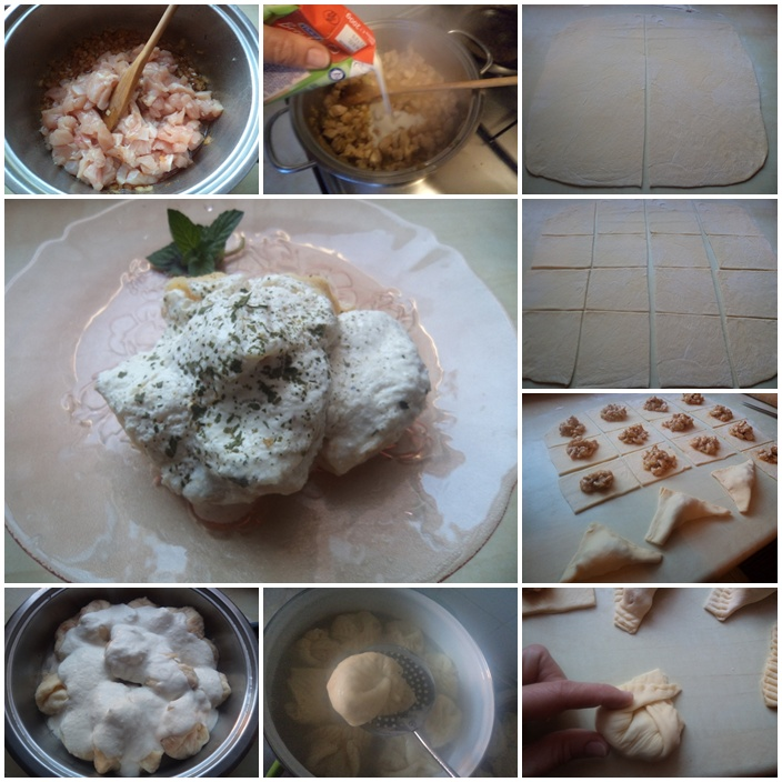 Bele knedle sa sosom od rena
