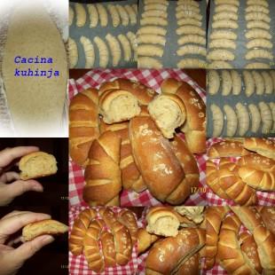 pekarske kiflice sa dve vrste brasna