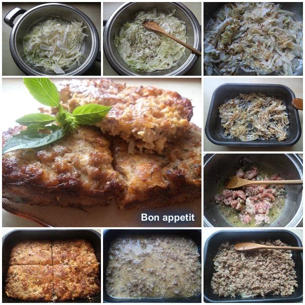 Musaka od slatkog kupusa i mlevenog mesa