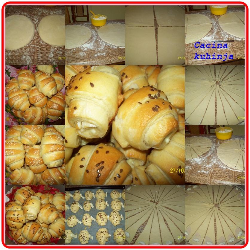Kroasani sa filom od pilećih prsa i sira