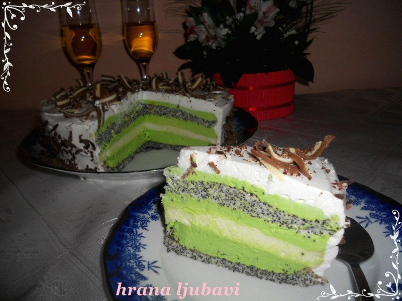 Torta After eight sa makom