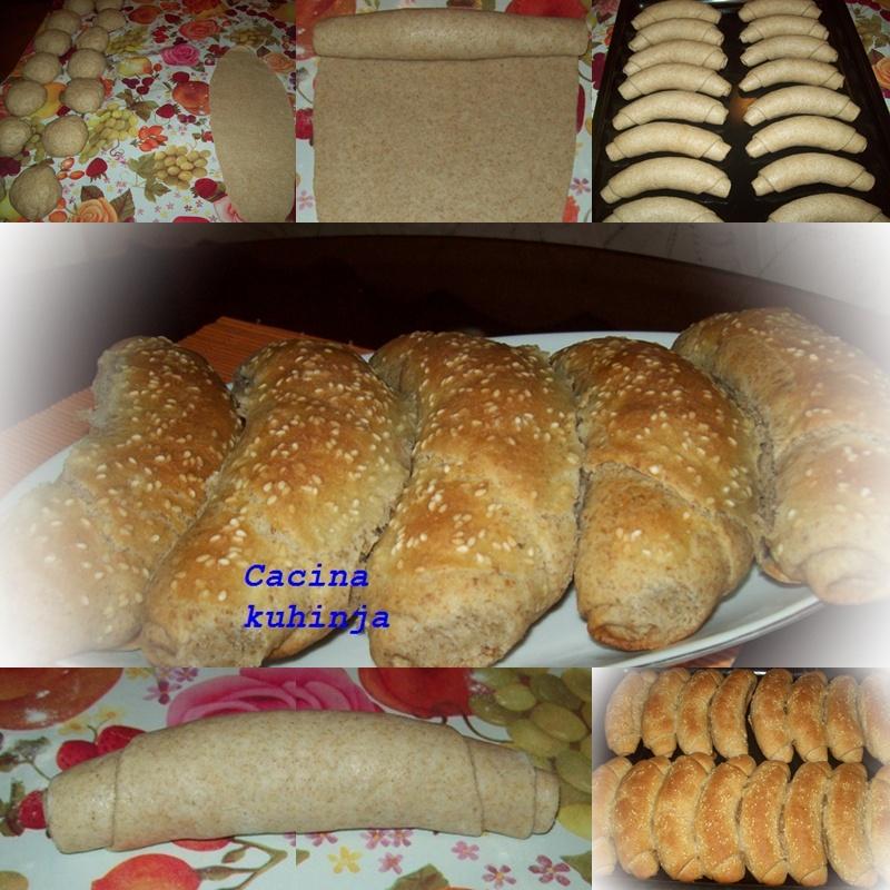 Posne pekarske kifle sa integralnim brašnom