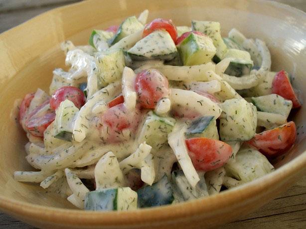 Salata sa kajmakom