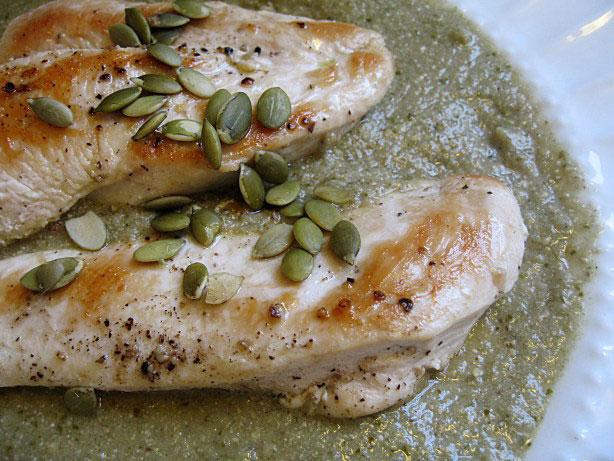 Piletina sa sosom od tikvinih sjemenki