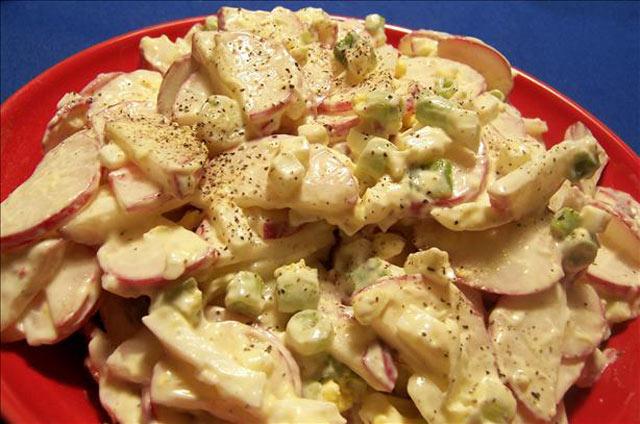 Salata od jaja i rotkvica