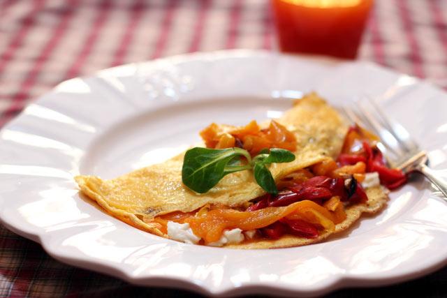 Omlet sa fetom i paprikom