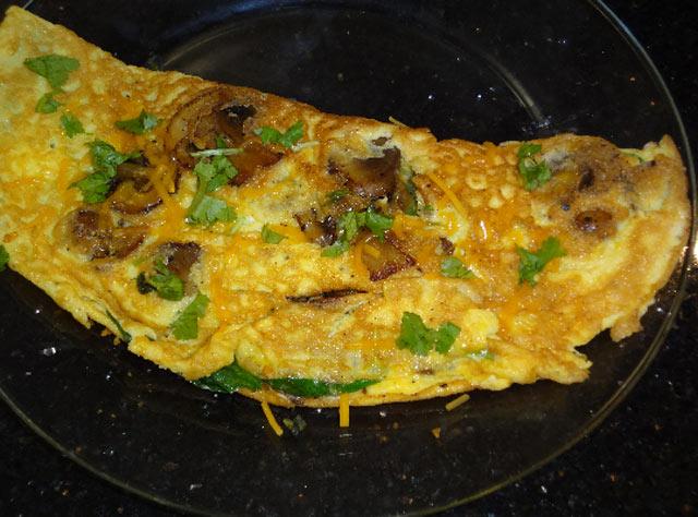 Omlet sa gljivama i špinatom