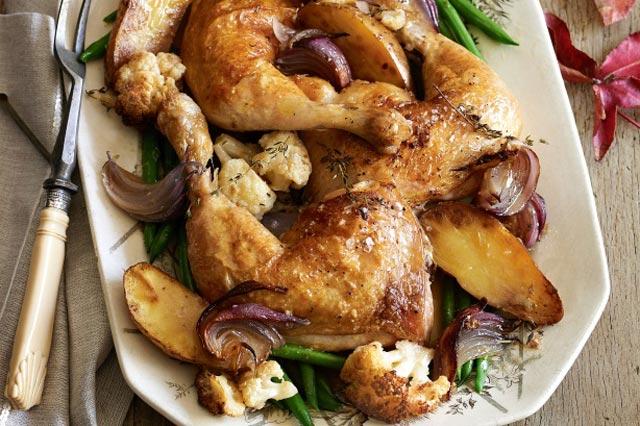 Pečena piletina sa karfiolom