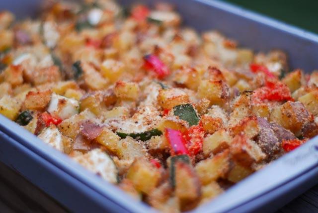 Zapečeni krompir sa tikvicama