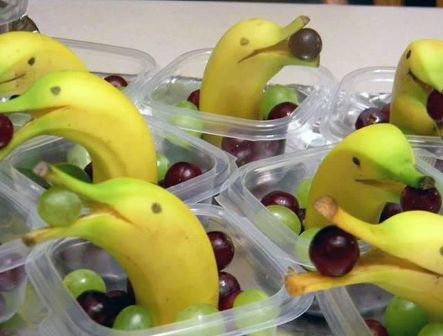 Banane i grožđe