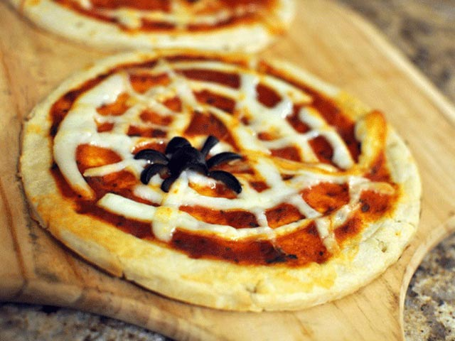 Halloween mini pizze