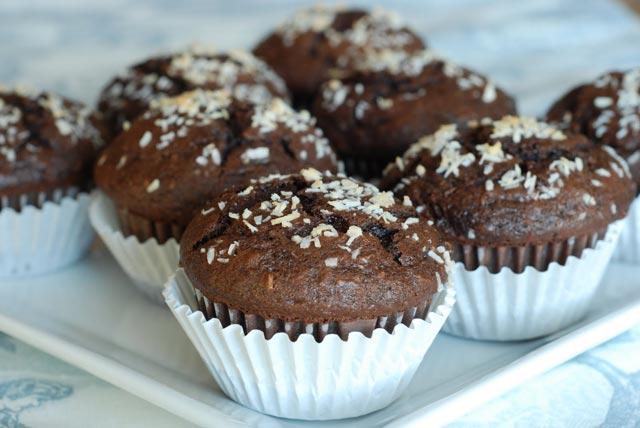 Muffini sa čokoladom i kokosom