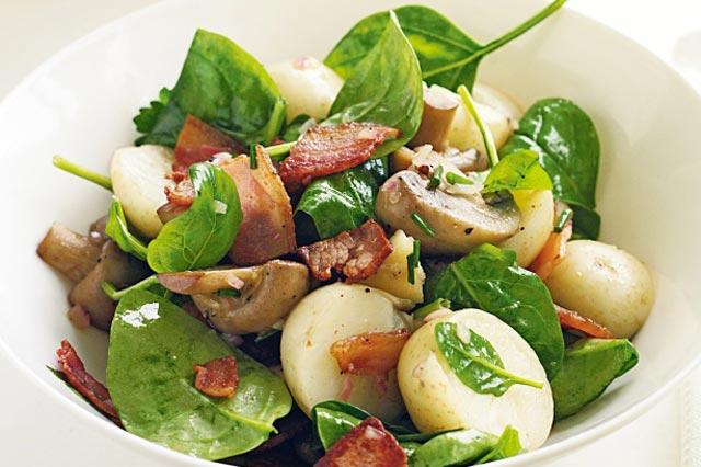 Salata od krompira i gljiva