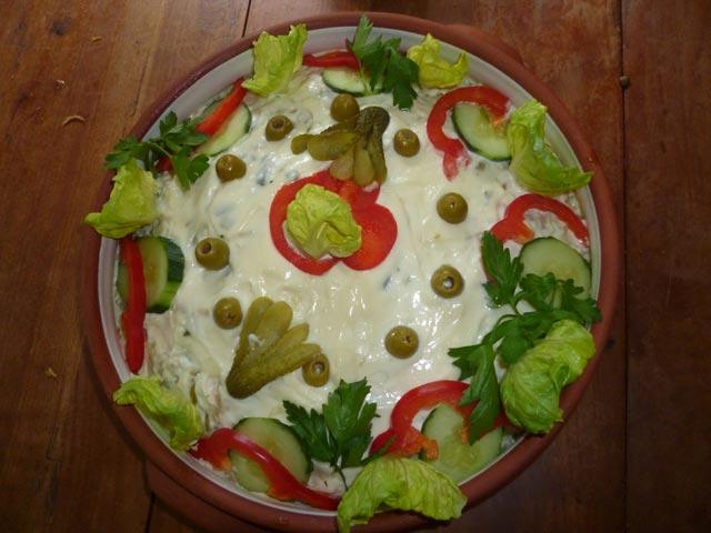 Salata sa paprikama i šunkom