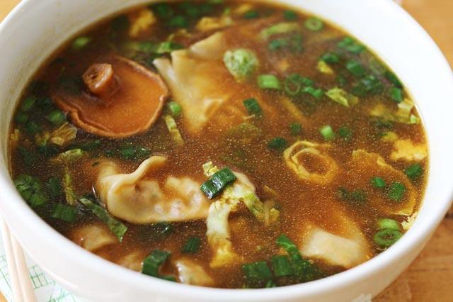 Supa sa gljivama na azijski