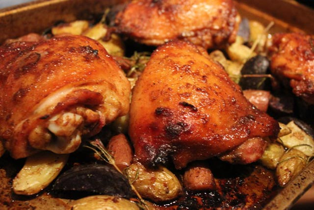 Ajvar piletina sa krompirom