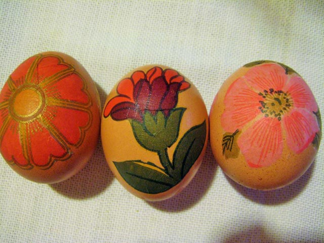 Moja prva jaja oslikana dekupaž tehnikom