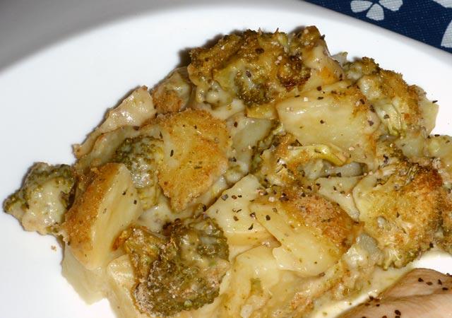 Krompir sa brokulom iz rerne