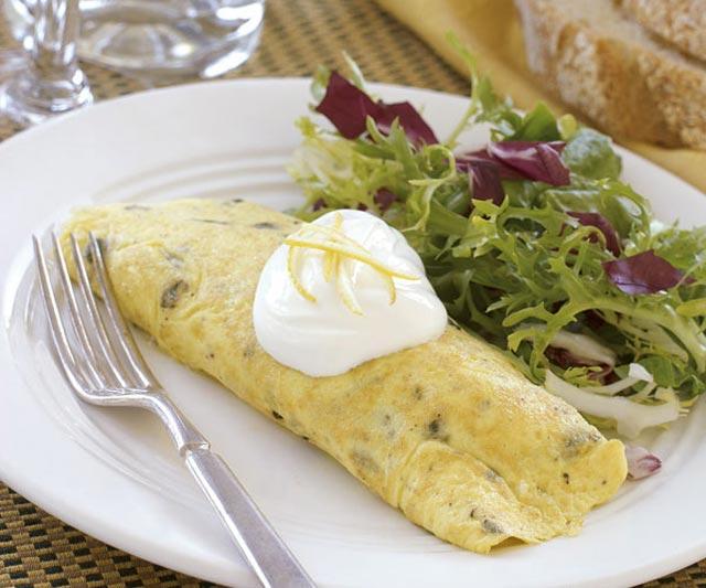 Omlet sa gljivama i prasom