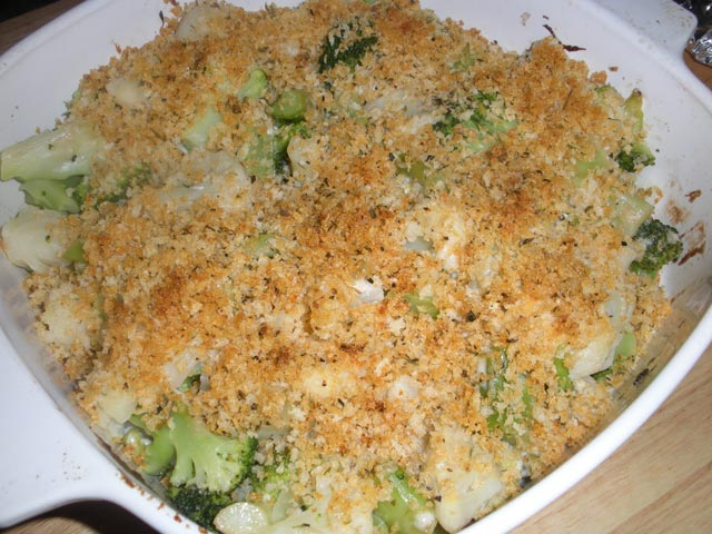 Zapečena brokula i karfiol