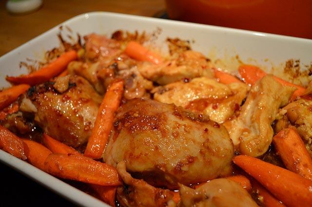 Piletina na povrću
