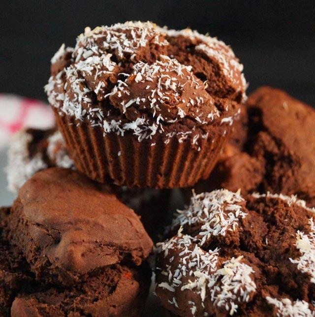 Kokos nutella muffini
