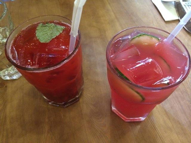 Napitak od lubenice i bobičastog voća